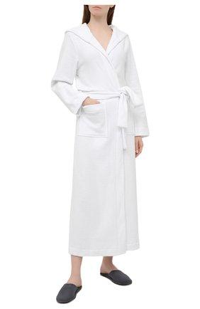 Женский халат HANRO белого цвета, арт. 077304 | Фото 2