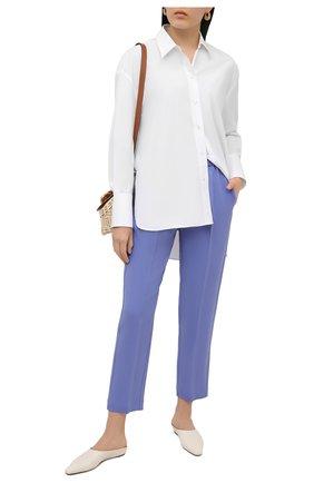 Женские брюки из вискозы и шерсти FORTE_FORTE голубого цвета, арт. 8006 | Фото 2