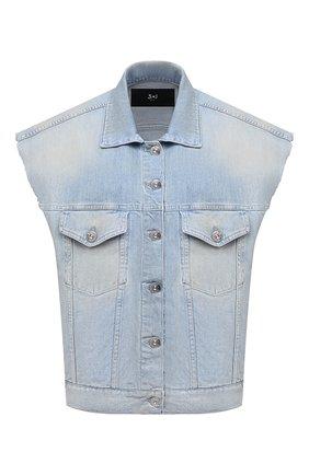 Женский джинсовый жилет 3X1 голубого цвета, арт. WJ0B21079/GLACIER | Фото 1