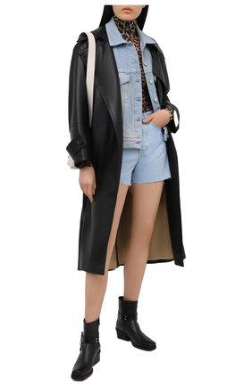 Женский джинсовый жилет 3X1 голубого цвета, арт. WJ0B21079/GLACIER | Фото 2
