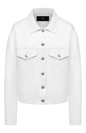 Женская джинсовая куртка 3X1 белого цвета, арт. WJ0070952/0PTIC WHITE | Фото 1