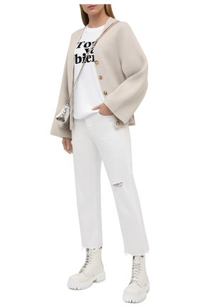Женские джинсы 3X1 белого цвета, арт. WP0380952/0PTIC WHITE | Фото 2