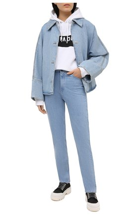 Женские джинсы 3X1 голубого цвета, арт. WP0221079/GLACIER | Фото 2