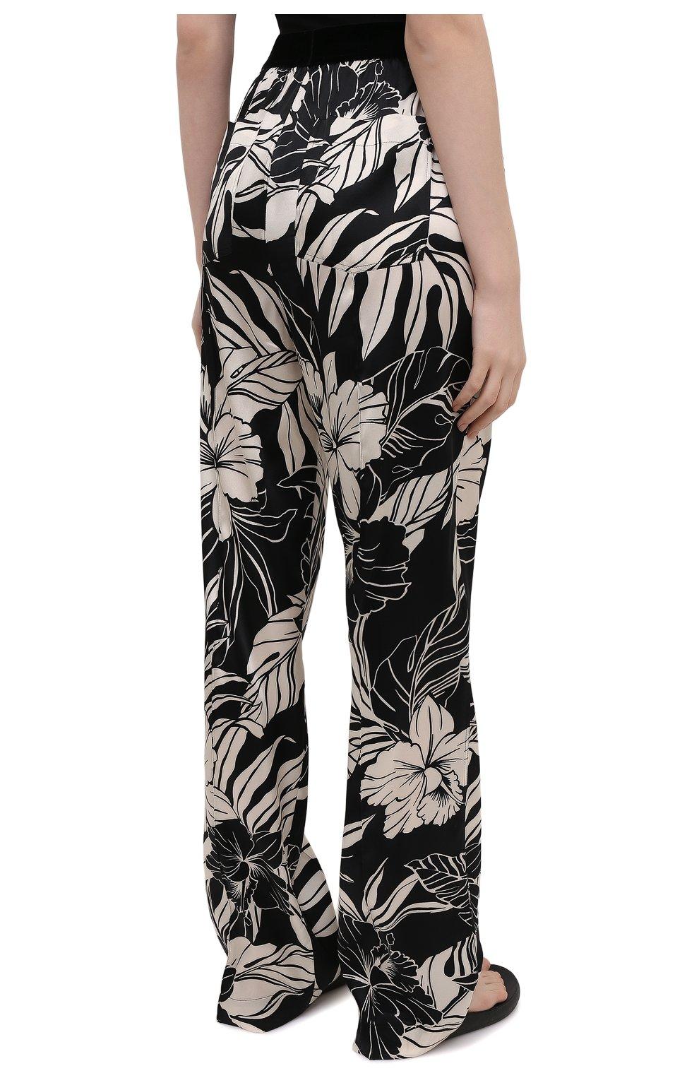 Женские шелковые брюки TOM FORD черно-белого цвета, арт. PAW398-FAP151   Фото 4