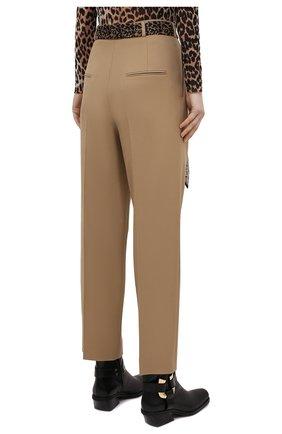 Женские шерстяные брюки SAINT LAURENT бежевого цвета, арт. 648142/Y7B73 | Фото 4