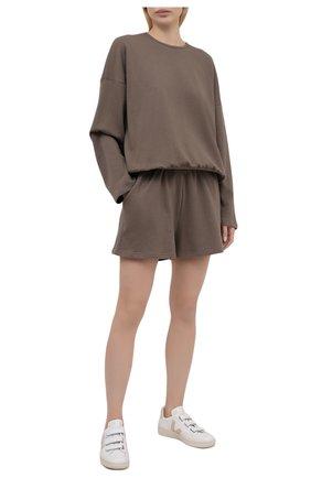 Женский хлопковый костюм THE FRANKIE SHOP коричневого цвета, арт. ST JAI KR 08 | Фото 1