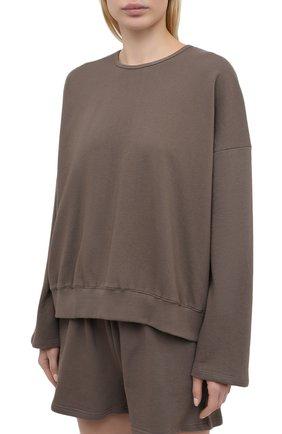 Женский хлопковый костюм THE FRANKIE SHOP коричневого цвета, арт. ST JAI KR 08 | Фото 2