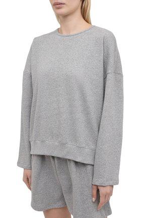Женский хлопковый костюм THE FRANKIE SHOP серого цвета, арт. ST JAI KR 08 | Фото 2