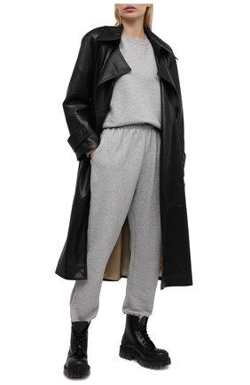 Женские хлопковые джоггеры THE FRANKIE SHOP серого цвета, арт. PA VAN KR 08 | Фото 2