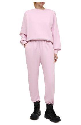 Женские хлопковые джоггеры THE FRANKIE SHOP розового цвета, арт. PA VAN KR 08 | Фото 2