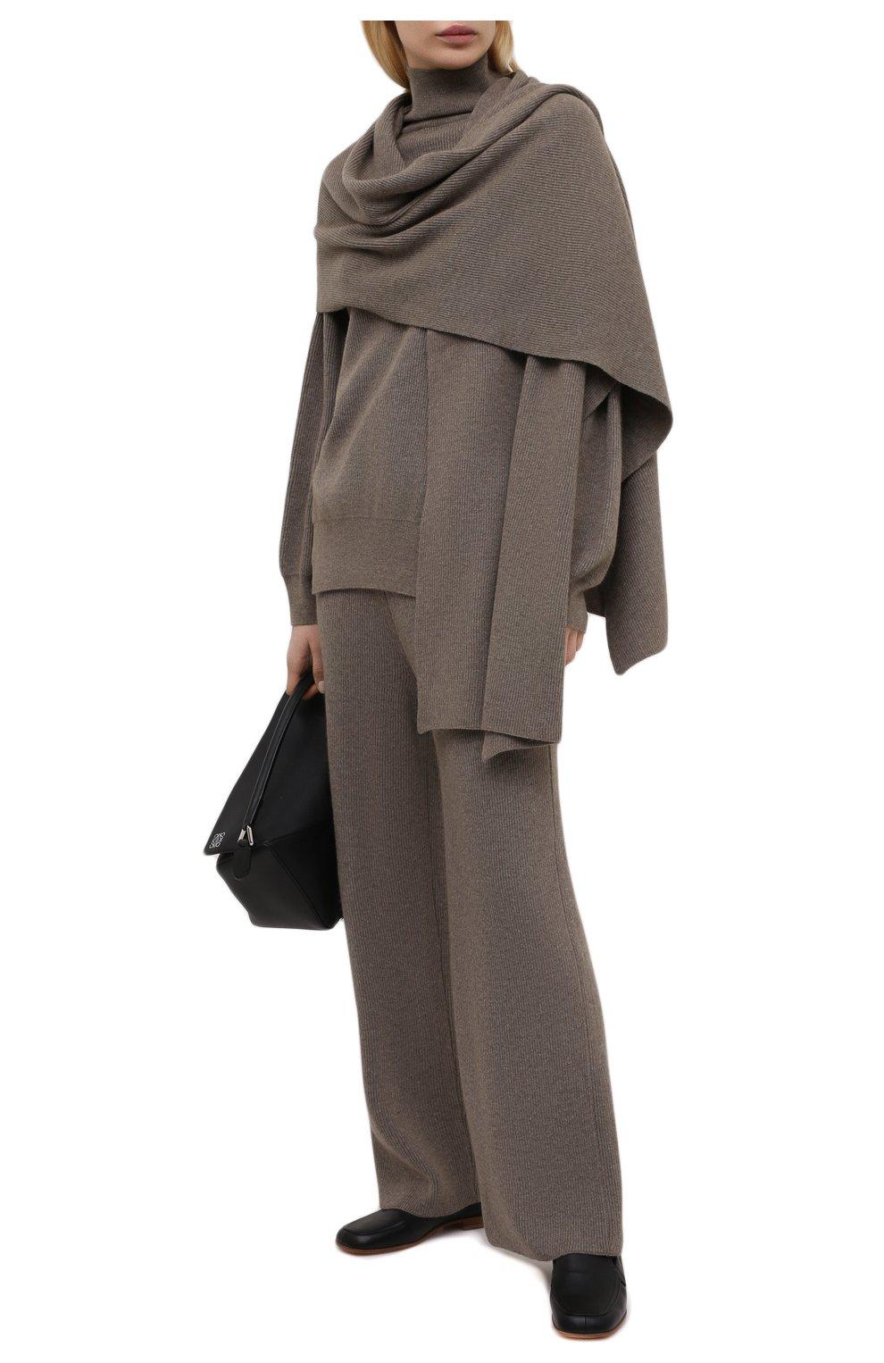 Женские брюки THE FRANKIE SHOP коричневого цвета, арт. PA RKL KR 10 | Фото 2