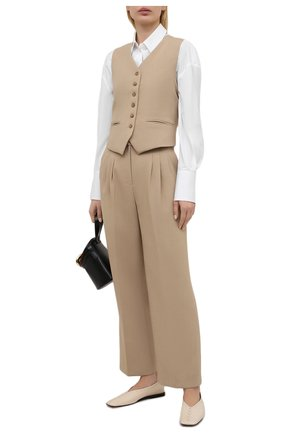 Женские брюки THE FRANKIE SHOP бежевого цвета, арт. PA BSP KR 09/WHEAT | Фото 2