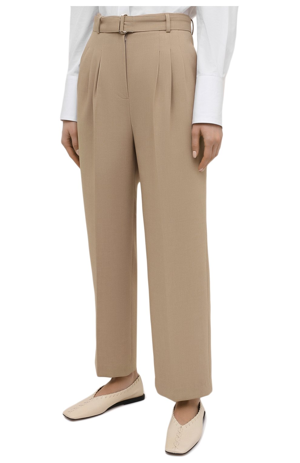 Женские брюки THE FRANKIE SHOP бежевого цвета, арт. PA BSP KR 09/WHEAT | Фото 3