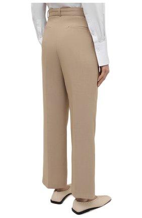 Женские брюки THE FRANKIE SHOP бежевого цвета, арт. PA BSP KR 09/WHEAT | Фото 4