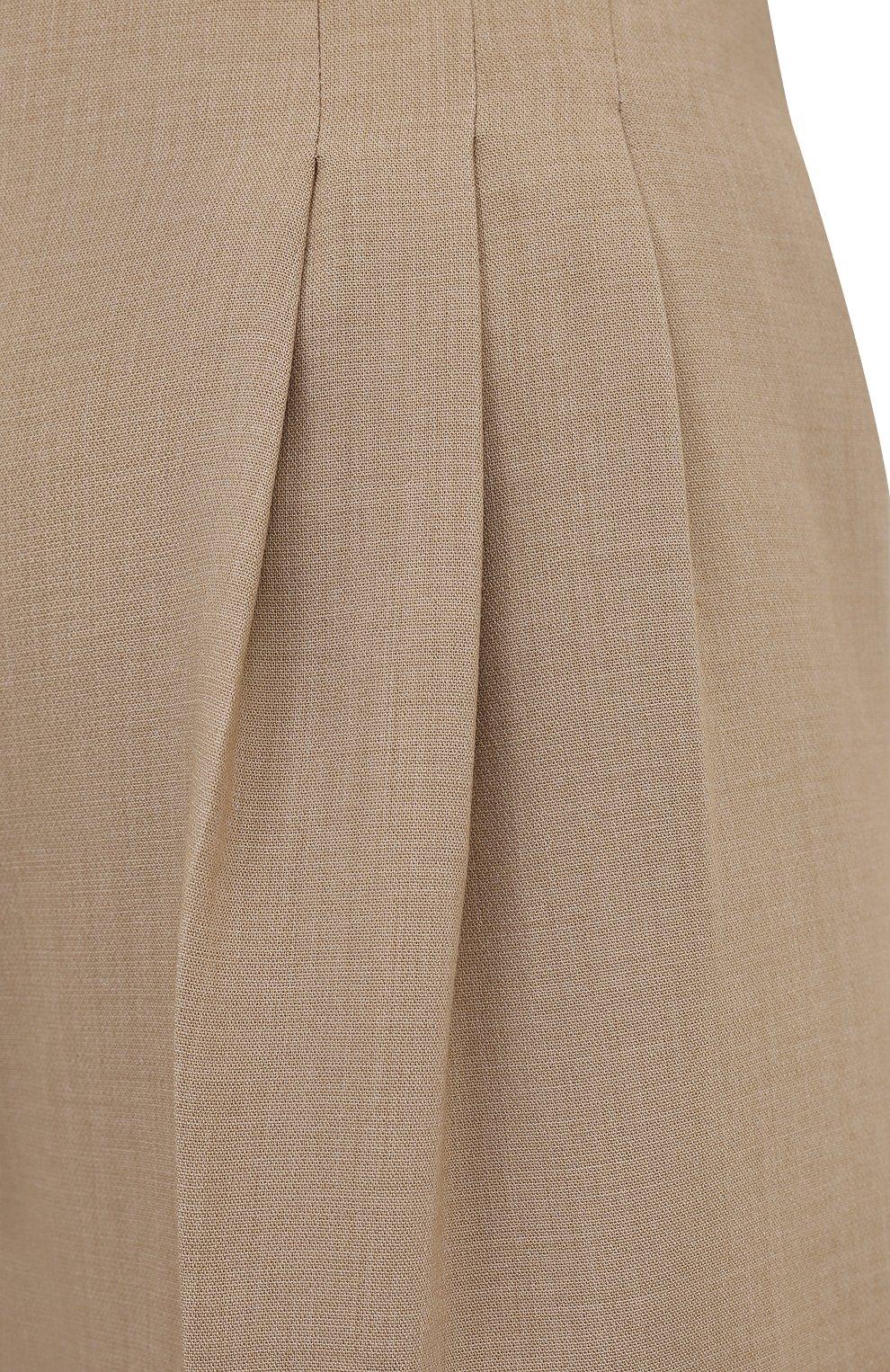 Женские брюки THE FRANKIE SHOP бежевого цвета, арт. PA BSP KR 09/WHEAT | Фото 5