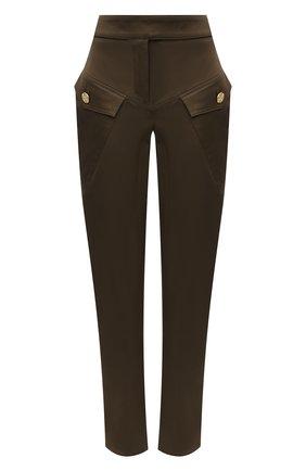 Женские хлопковые брюки ALEXANDRE VAUTHIER бронзового цвета, арт. 211PA1406 1300-203 | Фото 1