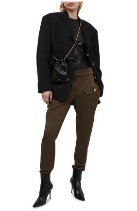 Женские хлопковые брюки ALEXANDRE VAUTHIER бронзового цвета, арт. 211PA1406 1300-203 | Фото 2