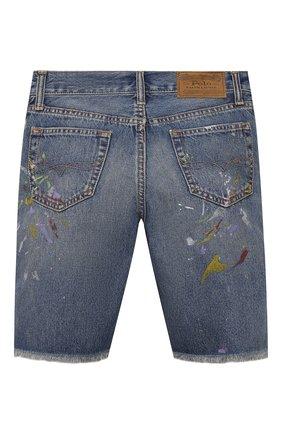 Детские джинсовые шорты POLO RALPH LAUREN синего цвета, арт. 323832733 | Фото 2 (Материал внешний: Хлопок; Ростовка одежда: 10 - 11 лет | 140 - 146см, 13 - 15 лет | 158 см)