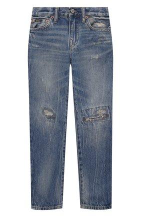 Детские джинсы POLO RALPH LAUREN голубого цвета, арт. 323832731 | Фото 1 (Материал внешний: Хлопок; Ростовка одежда: 10 - 11 лет | 140 - 146см, 13 - 15 лет | 158 см, 16 лет | 164 см, 9 лет | 134 см)