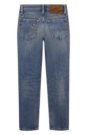 Детские джинсы POLO RALPH LAUREN голубого цвета, арт. 323832731 | Фото 2 (Материал внешний: Хлопок; Ростовка одежда: 10 - 11 лет | 140 - 146см, 13 - 15 лет | 158 см, 16 лет | 164 см, 9 лет | 134 см)