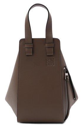 Женская сумка hammock small LOEWE темно-коричневого цвета, арт. 387.30.S35 | Фото 1