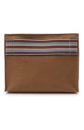Женский клатч suitcase stripe LORO PIANA коричневого цвета, арт. FAI6118 | Фото 1