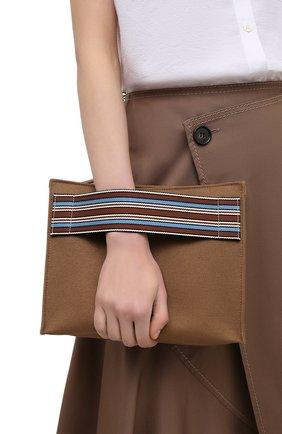 Женский клатч suitcase stripe LORO PIANA коричневого цвета, арт. FAI6118 | Фото 2