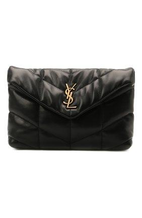 Женская сумка puffer small SAINT LAURENT черного цвета, арт. 620333/1EL07 | Фото 1
