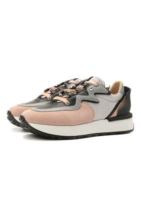 Женские замшевые кроссовки running LE SILLA розового цвета, арт. 1901R020M1PPRUN   Фото 1