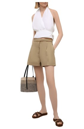 Женские кожаные шлепанцы rockstud torchon VALENTINO коричневого цвета, арт. VW2S0BL6/BAE   Фото 2