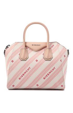 Женская сумка antigona small GIVENCHY розового цвета, арт. BB500CB10P   Фото 1
