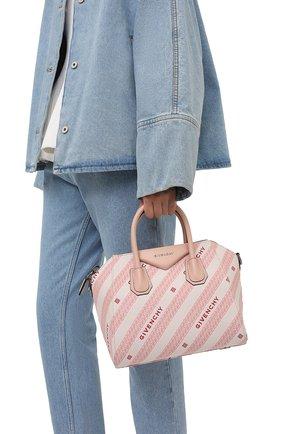 Женская сумка antigona small GIVENCHY розового цвета, арт. BB500CB10P   Фото 2