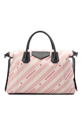 Женская сумка antigona soft medium GIVENCHY розового цвета, арт. BB50F2B10P   Фото 1