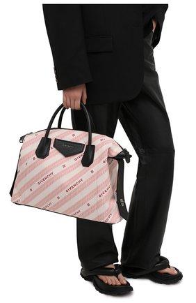 Женская сумка antigona soft medium GIVENCHY розового цвета, арт. BB50F2B10P   Фото 2