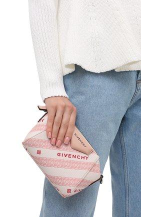 Женская сумка antigona nano GIVENCHY розового цвета, арт. BBU017B10P   Фото 2