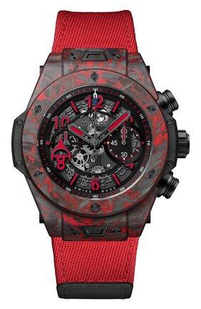 Мужские часы unico red carbon alex ovechkin HUBLOT черного цвета, арт. 411.QV.1123.NR.OVK21 | Фото 1