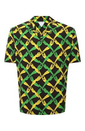 Мужская рубашка из вискозы BOTTEGA VENETA разноцветного цвета, арт. 647380/V0G60 | Фото 1