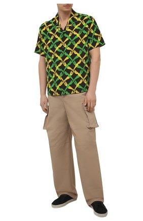 Мужские хлопковые брюки-карго BOTTEGA VENETA бежевого цвета, арт. 650994/V0BR0   Фото 2