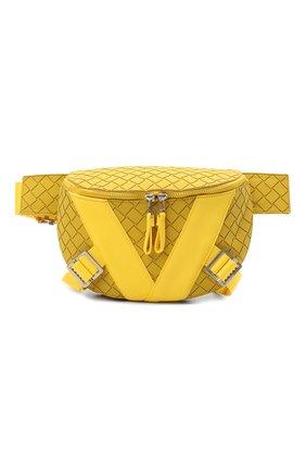Мужская поясная сумка BOTTEGA VENETA желтого цвета, арт. 652551/V0GK1 | Фото 1