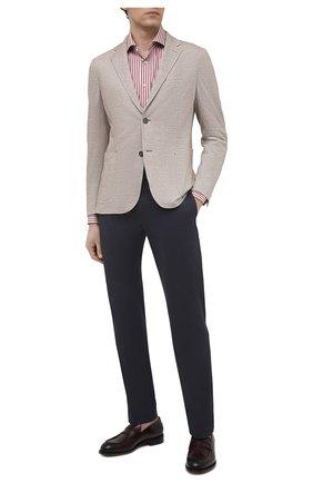 Мужской пиджак изо льна и хлопка ERMENEGILDO ZEGNA светло-бежевого цвета, арт. UWC69/SDF | Фото 2