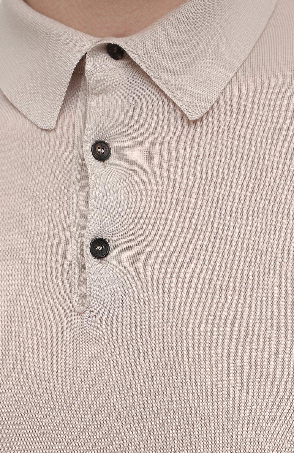Мужское шерстяное поло ERMENEGILDO ZEGNA бежевого цвета, арт. UWM00/132   Фото 5