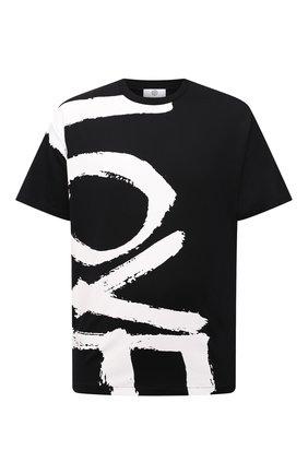 Мужская хлопковая футболка BURBERRY черного цвета, арт. 8037580 | Фото 1 (Материал внешний: Хлопок; Рукава: Короткие; Длина (для топов): Стандартные; Принт: С принтом; Стили: Гранж)