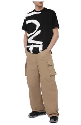 Мужская хлопковая футболка BURBERRY черного цвета, арт. 8037580 | Фото 2 (Материал внешний: Хлопок; Рукава: Короткие; Длина (для топов): Стандартные; Принт: С принтом; Стили: Гранж)