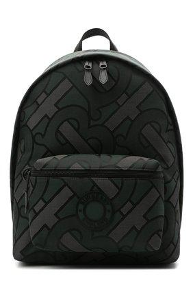 Мужской текстильный рюкзак BURBERRY зеленого цвета, арт. 8038319 | Фото 1 (Материал: Текстиль)