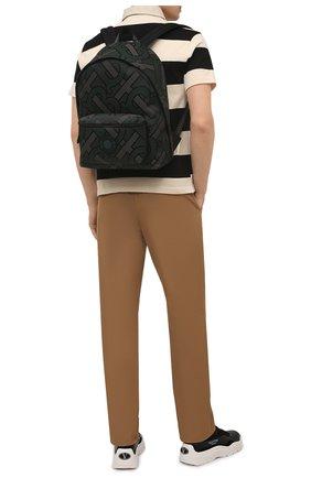 Мужской текстильный рюкзак BURBERRY зеленого цвета, арт. 8038319 | Фото 2 (Материал: Текстиль)