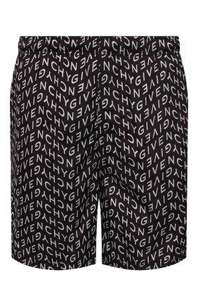 Мужские плавки-шорты GIVENCHY черного цвета, арт. BMA00J1Y9A | Фото 1 (Материал внешний: Синтетический материал; Мужское Кросс-КТ: плавки-шорты; Принт: С принтом)