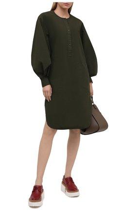 Женское хлопковое платье JW ANDERSON хаки цвета, арт. DR0157 PG0463 | Фото 2