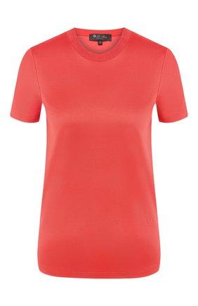 Женская хлопковая футболка LORO PIANA красного цвета, арт. FAI5069 | Фото 1