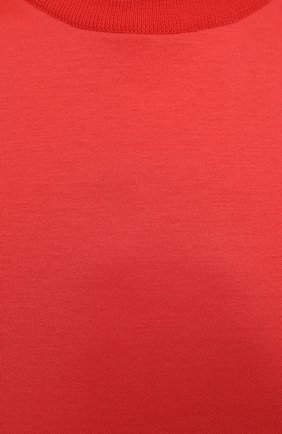 Женская хлопковая футболка LORO PIANA красного цвета, арт. FAI5069   Фото 5