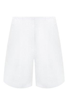 Женские льняные шорты LORO PIANA белого цвета, арт. FAL0703 | Фото 1